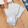 Upstate Stock - Ragg Wool Fingerless Gloves - Oatmeal Melange
